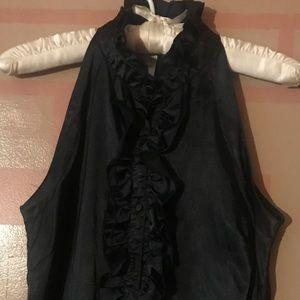 Tops - Black silk like blouse